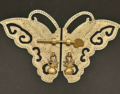 "New 11"" Butterfly Shiny Brass Cabinet Face Plate Door Pull Furniture Hardware"