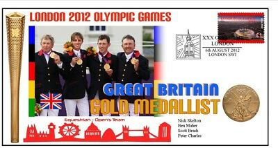 British 2012 Olympic Equestrian Team Gold Medal Cover