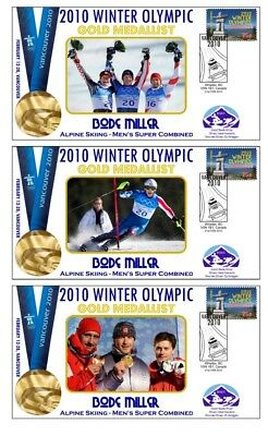 Bode Miller 2010 Olympics/c Skiing Set Of Gold Covers
