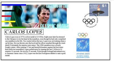 Olympic Games Legends Cover, Carlos Lopes Marathon