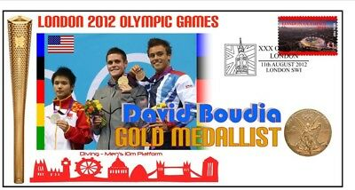 David Boudia 2012 Olympic Usa Diving Gold Medal Cover