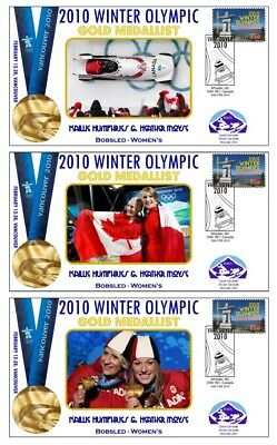 Canada 2010 Olympic Womens Bobsled Set Of Gold Covers