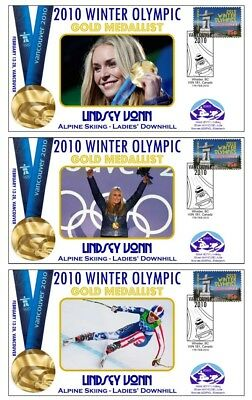 Lindsay Vonn 2010 Olympic Skiing Set Of Gold Covers