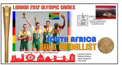South Africa 2012 Olympic Mens Rowing Gold Medal Cover