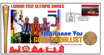 MARIANNE VOS 2012 NETHERLANDS OLYMPIC CYCLING GOLD Cv 1