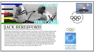 Olympic Games Legends Cover, Jack Beresford Rowing