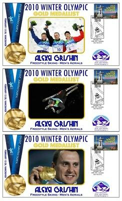 Alexei Grishin 2010 Olympic Aerials Set Of Gold Covers
