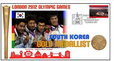 South Korea 2012 Olympic Fencing Team Gold Medal Cover