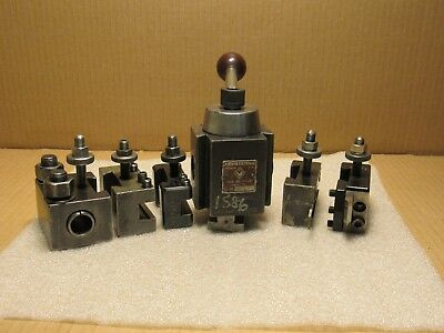 Armstrong BXA Piston Quick Change Tool Post & 5 Tool Holders. Made in USA.