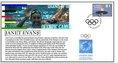 Olympic Games Legends Cover, Janet Evans Swimming