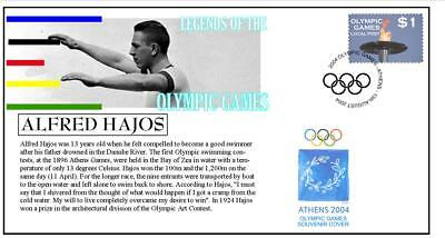 Olympic Games Legends Cover, Alfred Hajos Swimming