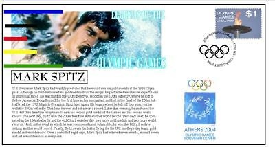 Olympic Games Legends Cover, Mark Spitz Swimming