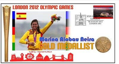 Spain 2012 Olympic Womens Wind Surfing Gold Medal Cov