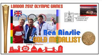 Ben Ainslie 2012 Olympic British Sailing Gold Medal Cov