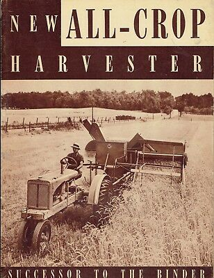 Allis Chalmers All-Crop Harvester Advertising Sales Brochure No. TL-239