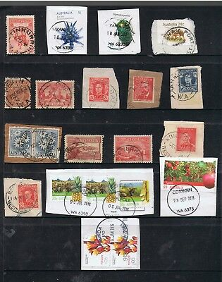 Selection Of W.a. Postmarks On Pre-Decimal/decimal Stamps.