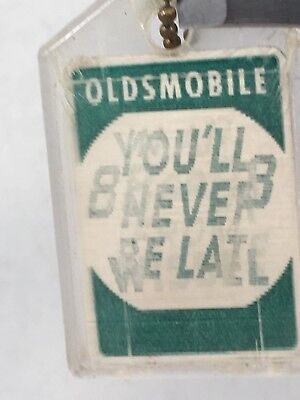 LUGGAGE TAG Oldsmobile advertising You'll Never Be Late in a 88 or 98 from Wisse