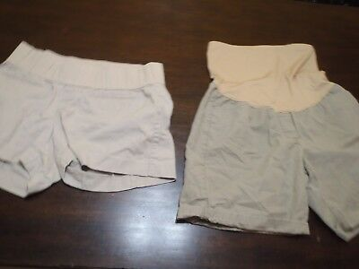 2 Pairs Of Maternity Shorts Size 10 By Gap