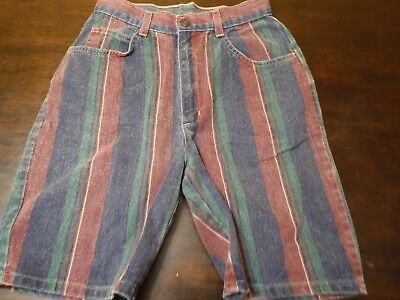 Vintage Multi-Color Jean Shorts Size 5 By No Boundaries