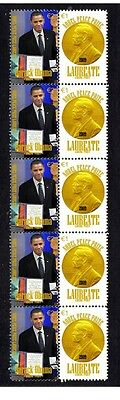 Barack Obama Nobel Peace Prize Strip Of 10 Stamps 1