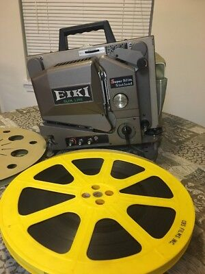 Vintage Eiki SSL-O  16mm Film Sound Projector Super With Disney Pete's Dragon