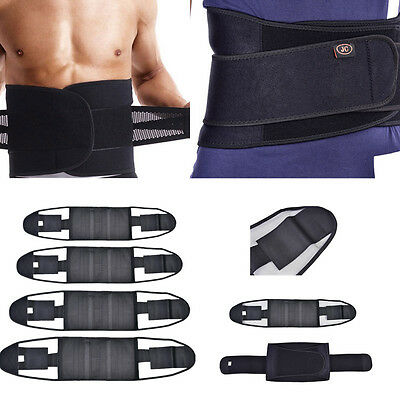 Double Pull Brace Mesh Lumbar Back Support Belt Lower Pain Relief Adjustable