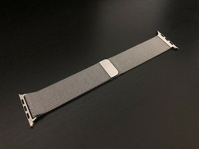 Genuine Apple Watch Silver 42-mm Milanese Loop Strap Band