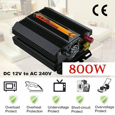 1000W Max 800W Power Inverter Power Wave DC 12V to AC 240V Power Display USB XP