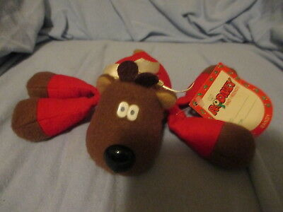 Plush Randy Reindeer Beanbag W/tag 1987 Rodney & Friends Burger King Hallmark