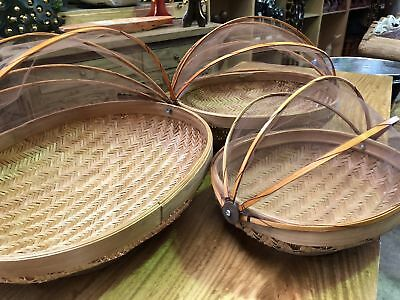 Oval Bamboo Food covers #10152