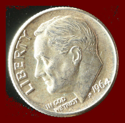 1964-D Roosevelt 90% Silver Dime Ships Free. Buy 5 for $2 off