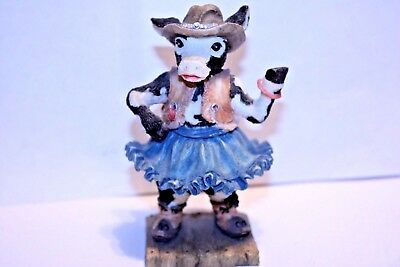"1992 Ganz Cowtown ""Cowlamity Jane"" Cow Figurine Collectible CT003  Vintage"