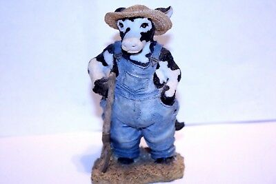 "1992 Ganz Cowtown ""Old MooDonald"" Cow Figurine Collectible CT001  Vintage"