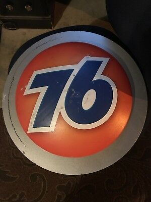"76 ORANGE 17"" Logo - Sign—"
