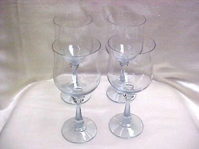 Vintage 1980's Princeton Blue by American Stemware Water Goblet Lot of 4 Pieces