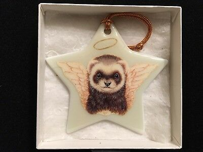 Ferret ware (Ann Hatchett-Sprague) ANGEL FERRET Star Ornament