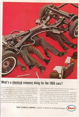 1963 Enjay Chemical Butyl Rubber '65 car auto chassis Parts Humble Oil photo Ad