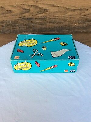 Vintage 80s 90s Burger King Pepsi Pencil Box Case Blue School Is Cool Cardboard