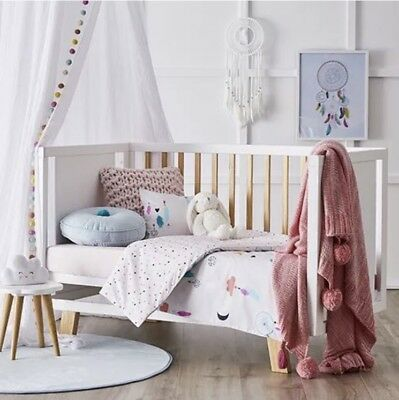 adairs kids DREAM CATCHER Cot quilt cover set RRP $99.95