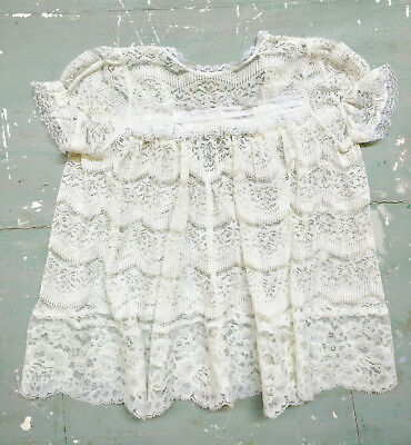 Vintage lace baby dress, white lace dress, lace, dress,handmade baby dress
