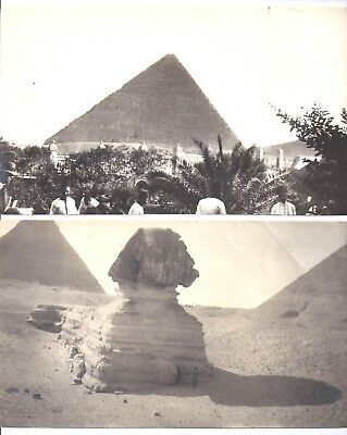 Old B&W photos of Pyramid and Sphinx in Egypt circa 1920's