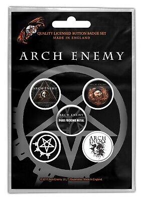 Arch Enemy Will to Power Button Set Badge Pack Metal Badges Official New
