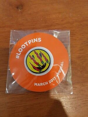 Primal Pin LootCrate Loot Crate March 2017 LootPins - NEW! clawed smiley face