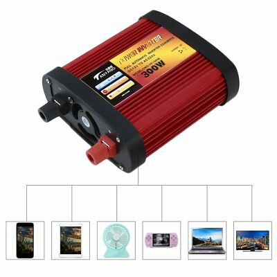 500W Car Power Inverter DC12V to AC240V with 2x Charging USB Ports+AC Outlet LO