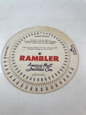 Rambler mileage estimator slide chart wheel miles per gallon Nash car