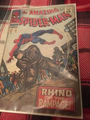 Marvel Comics The Amazing Spider-man #43 1966 Silver Age Dec Issue Rare Edition