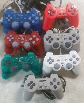Playstation 1 One X PS1 Controller Dualshock Original OEM Genuine Official PS2