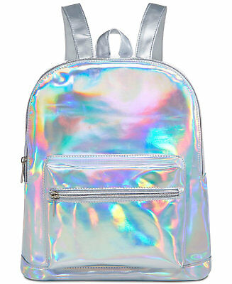 New Ariana Grande Fragrances BACKPACK BOOK BAG COSMETIC travel iridescent BAG