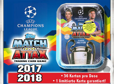Topps Match Attax Champions League 17/18 Mini Tin Dose inkl. 1x Limitierte