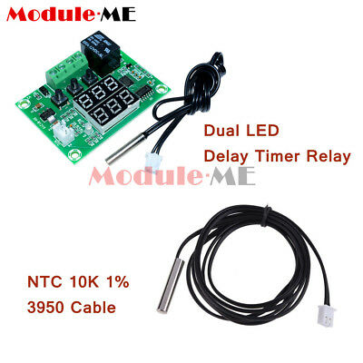Digital Dual LED DC 12V Cycle Timing Delay Timer Relay Module Clock Controller